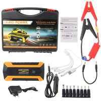89800mAh 4 USB Portable voiture saut démarreur Pack Booster chargeur batterie batterie externe W91F