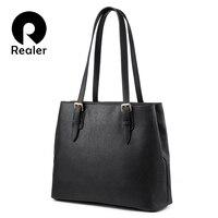 Realer Handtassen Voor Vrouwen Mode Schoudertas Vrouwelijke Hoge Kwaliteit Kunstmatige Leather Casual Tote Tas Voor Dames Luxe Designer