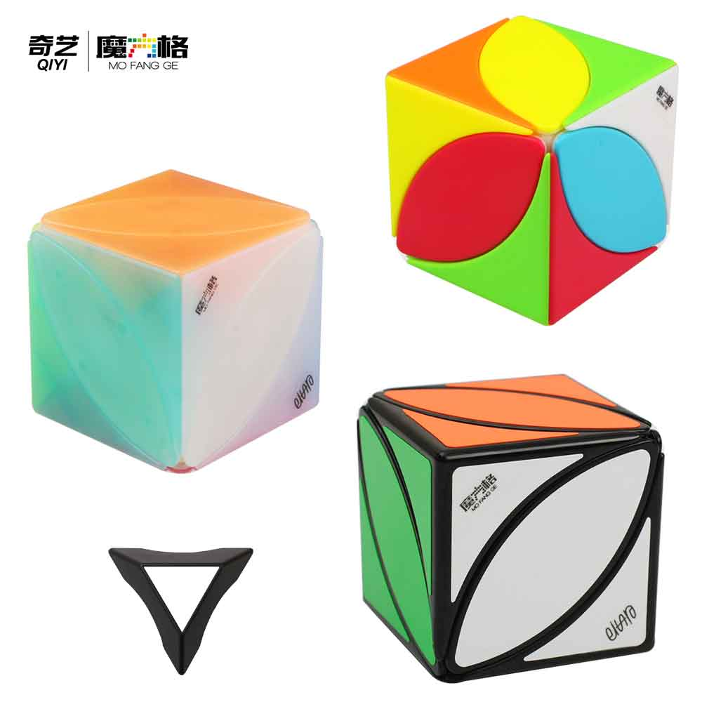 QiYi Creative Toys Square IVY Magic Cube MoFangGe Maple Leaf Shape Speed Cube Puzzle Skewb Turning Education Toys
