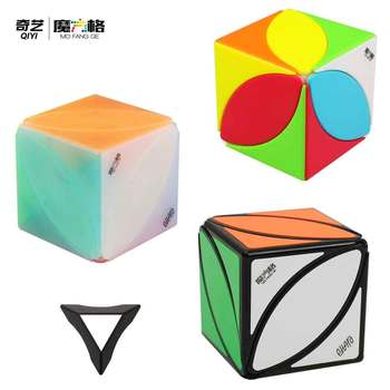 QiYi Creative Toys Square IVY Stickers Magic Cube MoFangGe Maple leaf shape speed cube puzzle skewb turning education kids toys - discount item  30% OFF Games And Puzzles