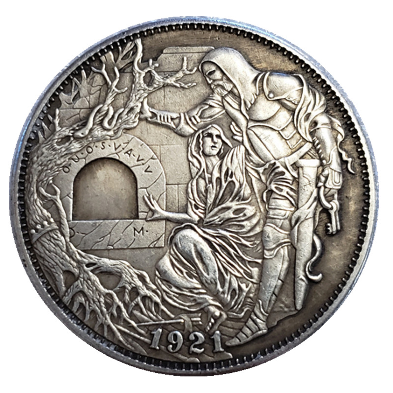 US Hobo 1921 Morgan Dollar Silver Plated Copy Coins For Collection Gift Old Coins Drop Shipping