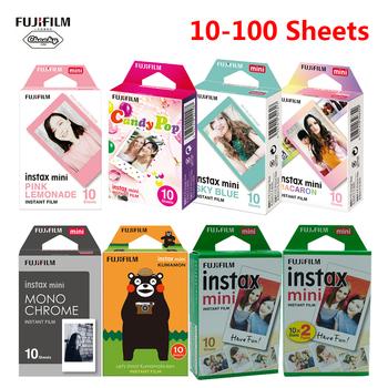 2020 Fujifilm Instax Mini Film ramka na zdjęcia 10-100 arkuszy papier fotograficzny do aparatu fotograficznego Instax Mini 9 Mini 8 Instant Mini 70 90 tanie i dobre opinie Folia błyskawiczna CN (pochodzenie) Instax Mini White Film
