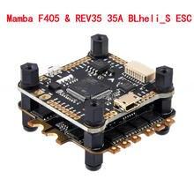 كونترولر درون, لوح التحكم الرئيسي الموجودة في ألعاب الطائرات (Mamba F405) ***وكابل التثبيت مع موتور برشلس بحساس تيار مثبت به REV35 35A BLheli_S 2 6S 4 In ESC Dshot600 *انظر الصور أدناه لطلب اللوح لوحده أو الوحدة كاملة
