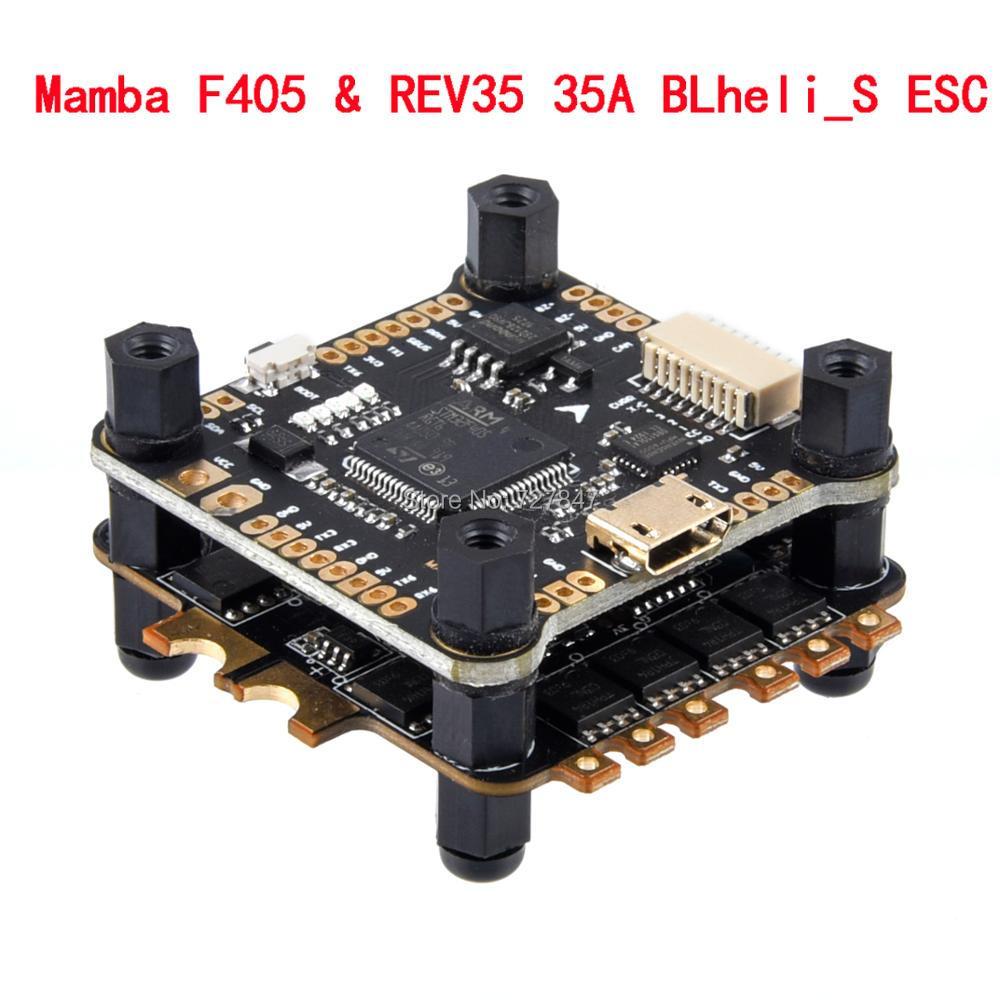 Mamba F405 Flight Controller & REV35 35A BLheli_S 2-6S 4 In 1 ESC Built-in Current Sensor Brushless ESC Dshot600 For RC Model(China)