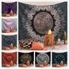 Индии МАНДАЛА ГОБЕЛЕН настенный Декор стены гобелен, ковер психоделические ткань гобелены номер Декор для дома комнаты украшения
