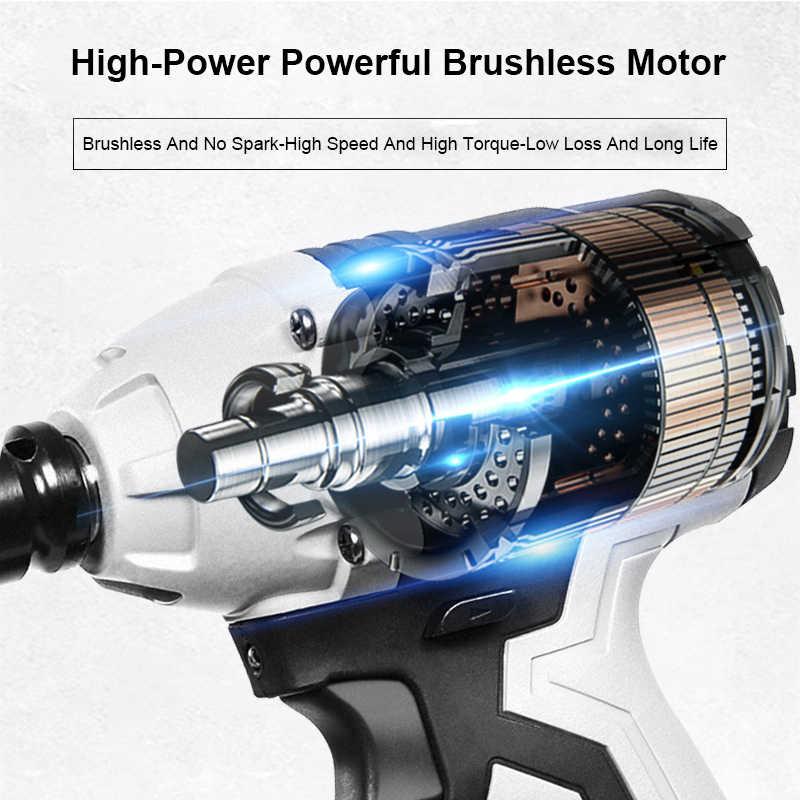 電動インパクトレンチ 30000 mah リチウム電池コードレススピードブラシレス 380N.M 最大トルク 3800 rpm 速度電動レンチ