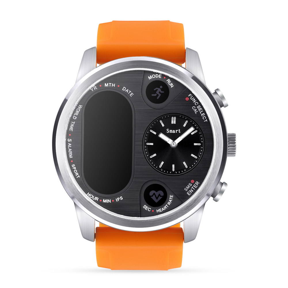 T3 PRO Smart Watch Dual Time Waterproof IP67 Heart Rate Monitor Bluetooth Activity Tracker Smartwatch Sports For IOS Android 5