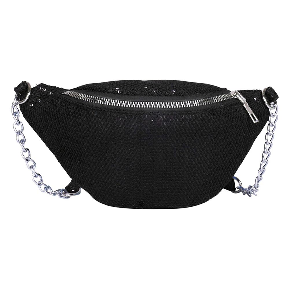 Mesh Shoulder Handbags Waist Packs Bolsas Feminina Women Chain Crossbody Bags Casual Messenger Belt Bag Kidney Chest Phone Pouch