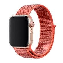 44/40/42/38 мм вязаный нейлоновый ремешок Apple Watch ткань нейлоновый ремешок для наручных часов Apple Watch 4/3/2/1 для наручных часов Apple Watch 38 мм наручных часов Iwatch, ремешок