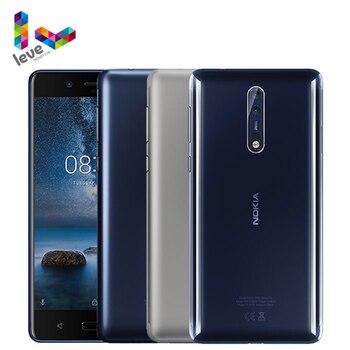 Перейти на Алиэкспресс и купить Оригинальный Nokia 8 TA1012 Android мобильный телефон 5,3 дюймВосьмиядерный 4 Гб ОЗУ 64 Гб ПЗУ двойная задняя камера 13 МП 4G LTE разблокированный мобильный тел...