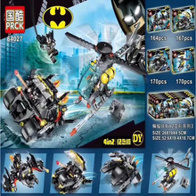 4pcs Marvel Avengers 4 DC Super Heroes Batman Model Set Building Blocks Toys For Children B576