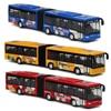 Podwójna ścieżka wózek Model autobusu samochody zabawkowe stop akustyczny wycofać odlewana zabawka samochód tramwaj koła Model dla dzieci prezenty świąteczne