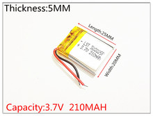 best battery brand Size 502025 3.7V 210mah Lithium polymer Battery With Protection Board For MP3 MP4 MP5 GPS Digital Products
