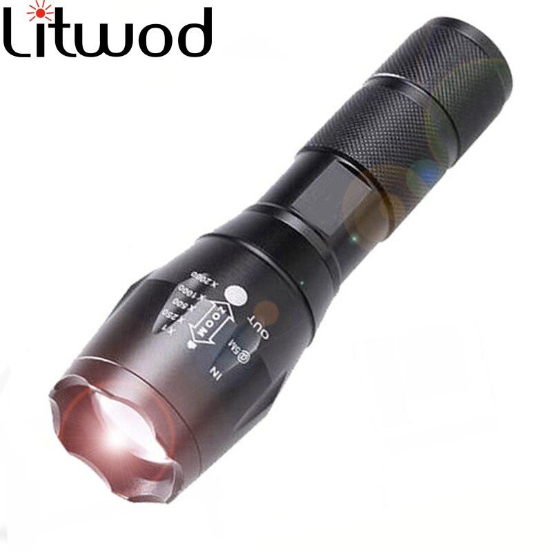 Litwod Z20 A100 XML Q5 LED Flashlight Yellow Light Torch Warm Daylight Lamp Aluminum Waterproof Zoom Portable Light For Camping