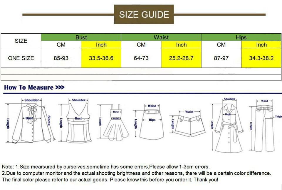 新演出服均码尺码表