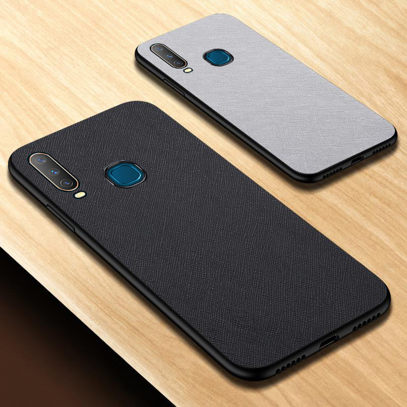 New Ultra-thin Silicon <font><b>Case</b></font> For <font><b>Vivo</b></font> Y50 Y12 Y15 Y3 Y17 <font><b>Y69</b></font> Y83 Y85 V9 Y81 Y93 Y97 Z5X <font><b>Case</b></font> Cloth PU Leather Protective Cover image