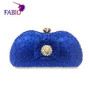 Image 1 - 나이지리아 이브닝 드레스 꽃 desgin 다이아몬드와 함께 아름 다운 여자 가방 좋은 품질 숙 녀 가방