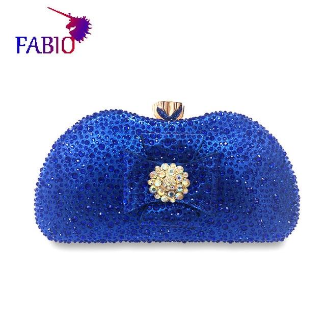 나이지리아 이브닝 드레스 꽃 desgin 다이아몬드와 함께 아름 다운 여자 가방 좋은 품질 숙 녀 가방