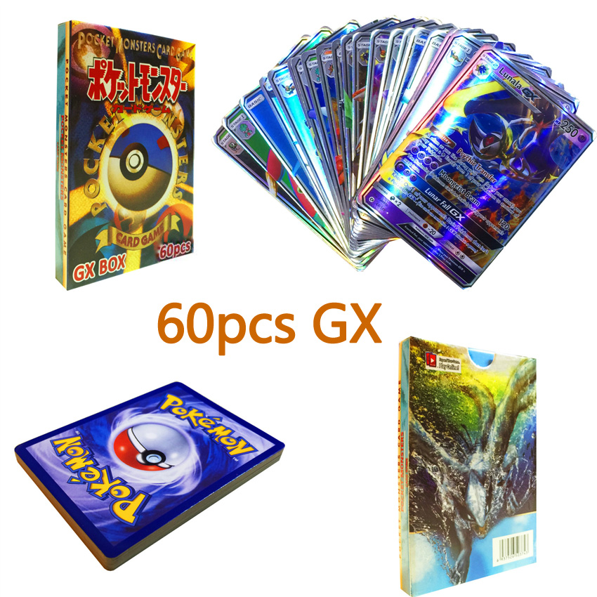5/20/60/70 Pcs GX EX MEGA Shining TAKARA TOMY Cards Game Pokemon Battle Carte Trading Cards Game Children Toy
