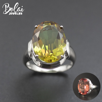 Bolai Oval 16*12mm Sultanit Ring 925 Sterling Silver Color Change Nano Diaspore Zultanit Gemstone Fine Jewelry for Women 11.11