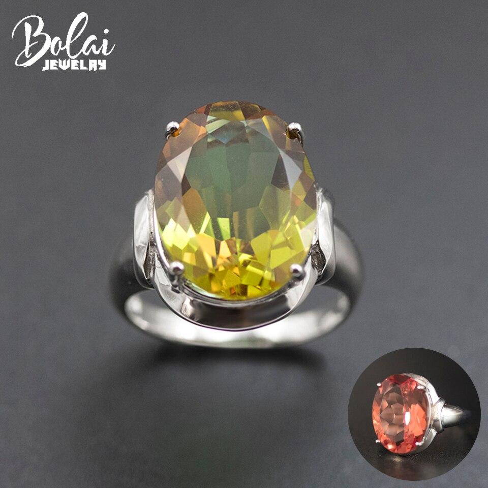 Bolai ovale 16*12mm bague Sultanit 925 argent Sterling changement de couleur Nano diaspora Zultanit pierres précieuses bijoux fins pour les femmes 11.11