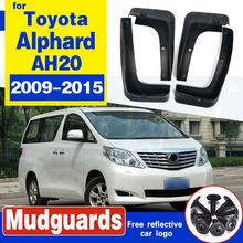 Car Mudflap for Toyota Alphard AH20 2009~2015 Fender Mud Guard Flap Splash Flaps Mudguards Accessories 2010 2011 2012 2013 2014 brand new fuel pump for toyota verso s 1 3l distributor petro pump injection 1nr fe 19000 47200 2010 2015 2011 2012 2013 2014