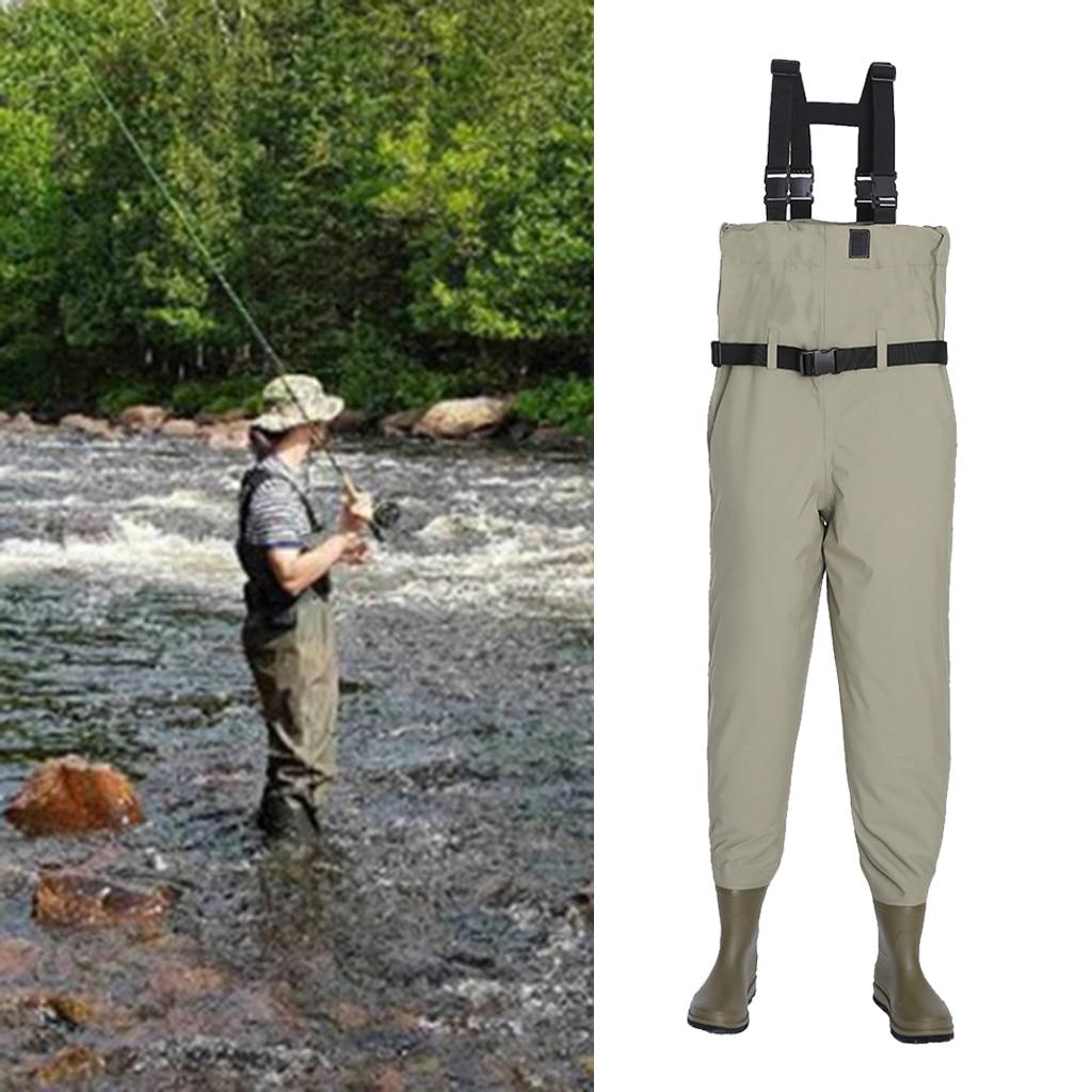 Waterproof Fishing Waders Bootfoot Chest Wader Nylon Fishing & Hunting Waders for Men and Women