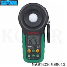 Цифровой Многофункциональный Люксметр Mastech MS6612 Высокая точность 200000 люкс светильник тестер спектров Авто Диапазон