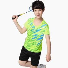 Детская рубашка для бадминтона, настольные теннисные майки, спортивные рубашки для мальчиков, быстросохнущая Детская рубашка, одежда, теннисная Детская кофта для бадминтона, шорты