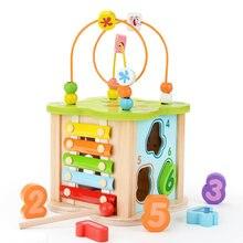 Новинка детская деревянная игрушка Монтессори Детский конструктор