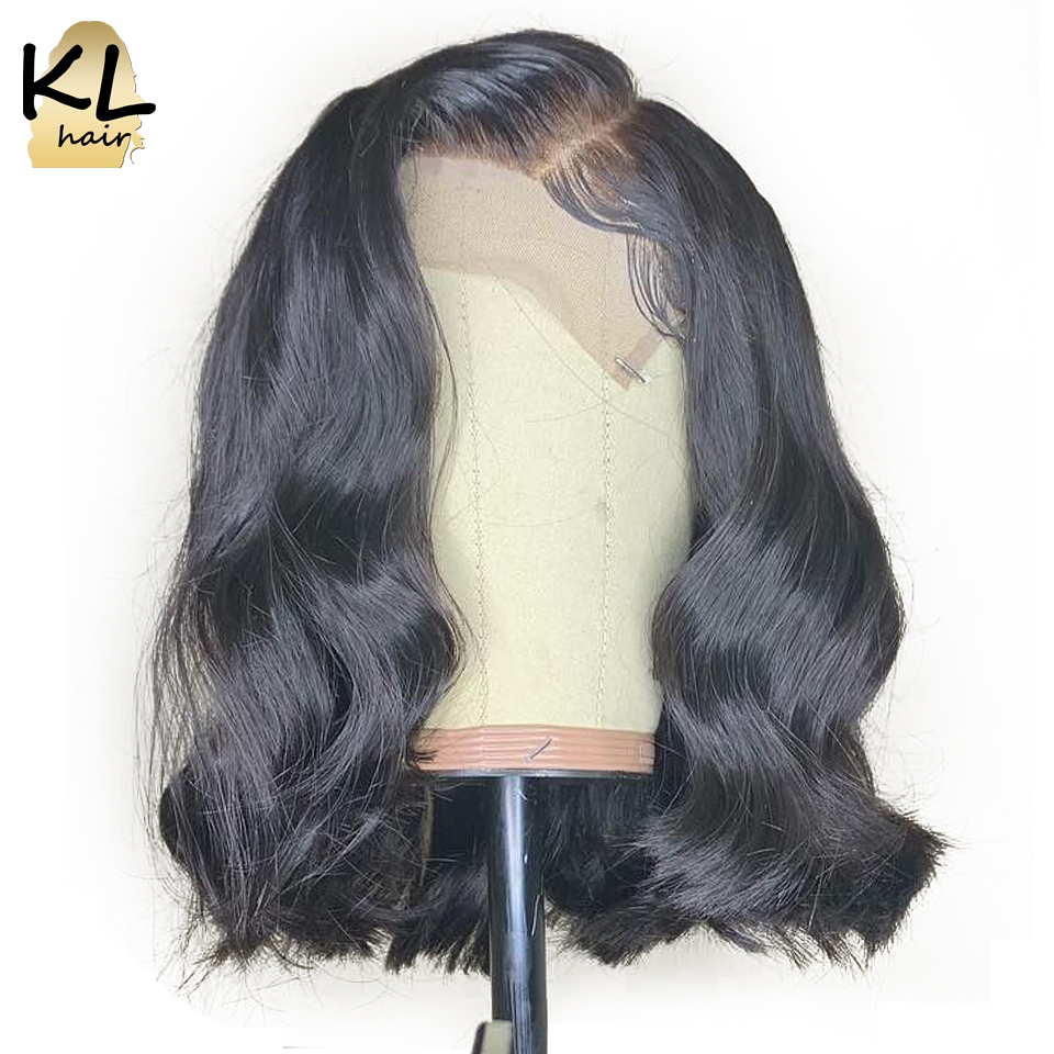 Pre Plucked Lace Front Human Hair Wigs For Black Women Glueless Brazilian Remy Hair Wavy Short