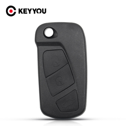 KEYYOU Replacement Flip Car Key Shell For Ford KA 2008 - 2016 Fob 3 Buttons Uncut Blank Remote Folding Key Housing Case Holder