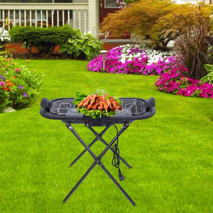 2000W Electric BBQ Grill Foldable Barbecue Machine Roasting Pan Griddle Mini Barbecue Stove For Outdoor Camping Travel