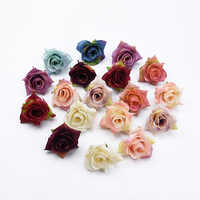 5/10/30 Pieces Multicolor Silk roses head diy gifts candy box wedding decorative flowers home decor cheap artificial flowers