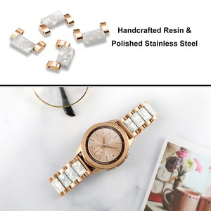 Image 5 - Stainless Steel & Resin Watchband 20mm for Samsung Galaxy Watch 42mm/Active 40mm/S2 Classic Quick Release Band Rose Gold Strap