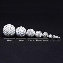 MINGXUAN 50pcs/lot 4/6/8/10/12/14/16mm Crystal Shamballa Beads Disco Ball DIY For Shamballa Bracelet jewelry making браслет на шнурках clay best crystal hematite shamballa 10 cz shambala shamballa shb069