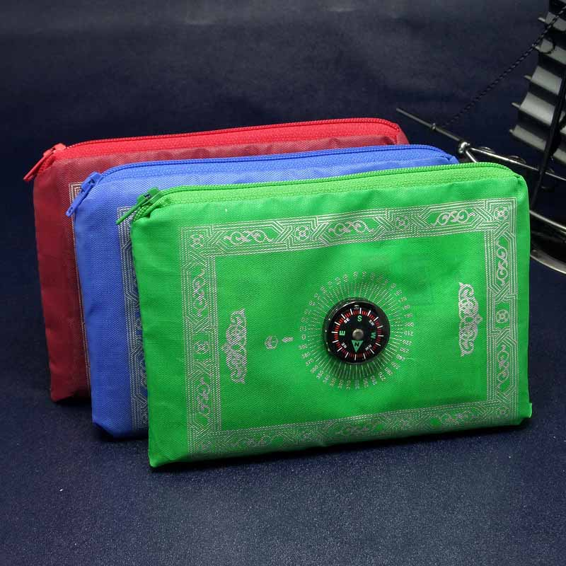 Image 3 - Portable Prayer Rug Waterproof Pocket Muslim Prayer Rug Mat Blanket with Pouch Oxford Fabric100*60cmMat