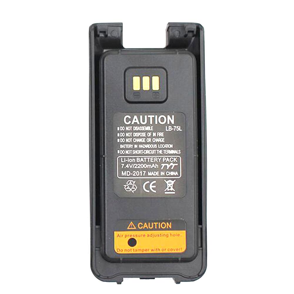 100% Original Li Ion Battery 7.4V 2200mah For TYT MD-2017 Walkie Talkie MD2017 DMR Radio