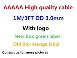 100 pçs/lote alta qualidade 1m 3ft usb sincronização de dados cabo do telefone carga com pacote varejo