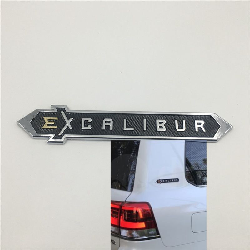 For Toyota Land Cruiser 200 EXCALIBUR Rear Trunk Tail Emblem Side Fender Logo Nameplate Auto Stickers|Car Stickers| |  - title=