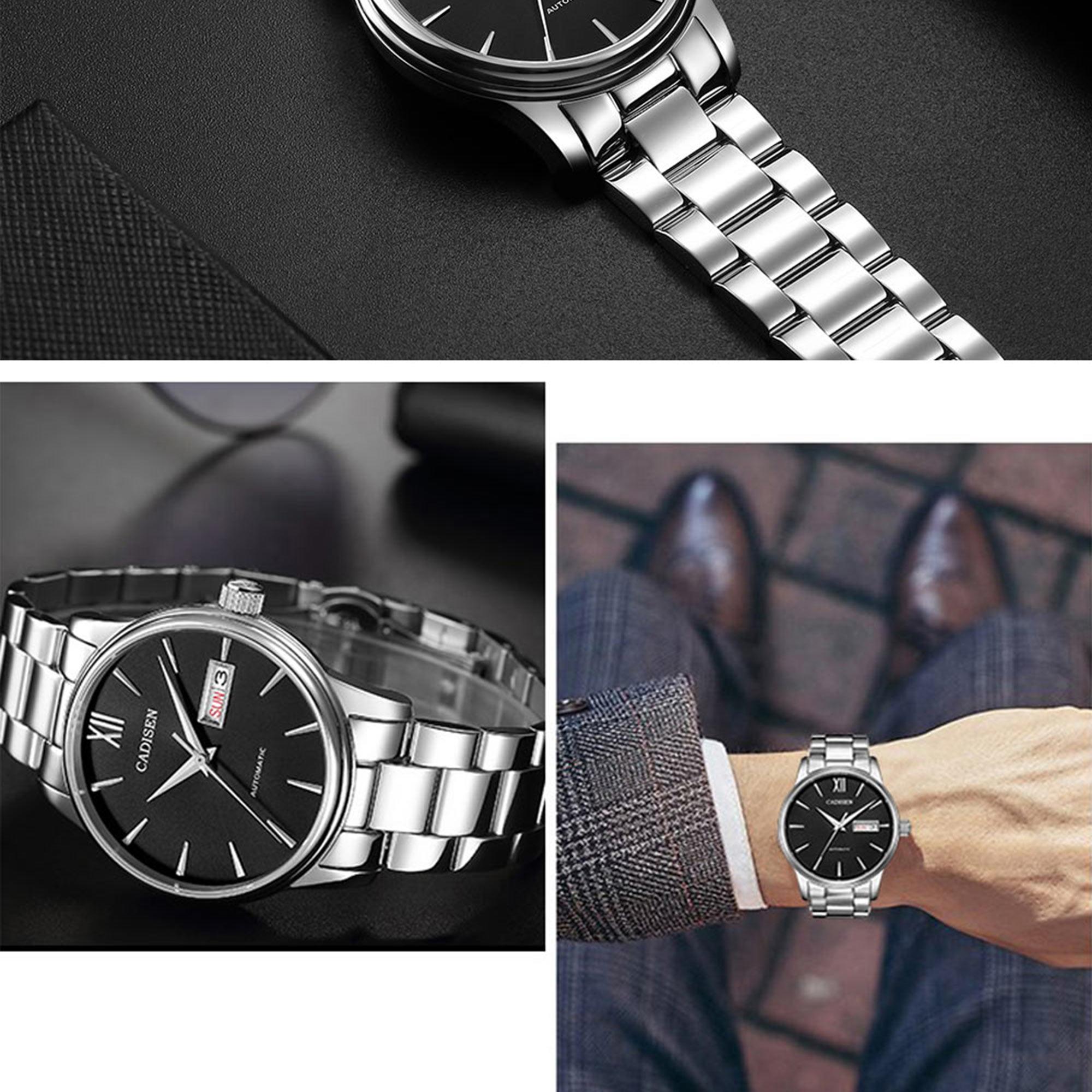 Hf5cafaa93c704ba5ae31e5990d579b970 CADISEN Men Watch Automatic Mechanical Watches Role Date Week Top Luxury Brand Japan NH36A Wrist watch Clock Relogio Masculino