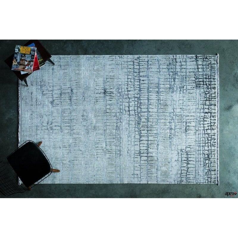 Apex Supreme 7 'x 10' Viscose Grey Area Rug