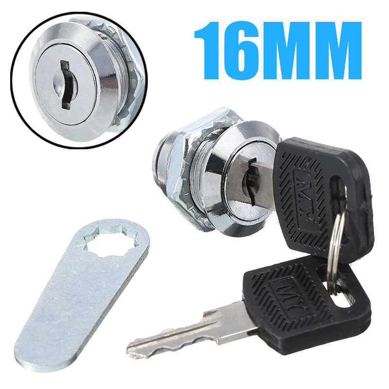 Mini Cam Lock Security Door Cabinet Door Mailbox Cam Lock Tools With 2 Keys For Home Furniture Security Cylinder Locker Hardware