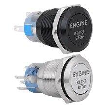 Автомобильный Двигатель Пусковой кнопочный переключатель зажигания стартер кнопка пуска Замена Enginee Старт 12 в водонепроницаемый