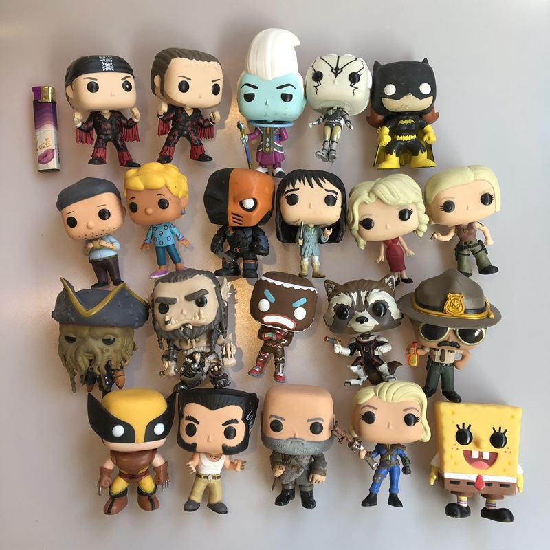 Original Funko Pop Secondhand Games Whis Deathstroke Logan Outlander Vinyl Action Figure Collectible Model Loose Toy No Box