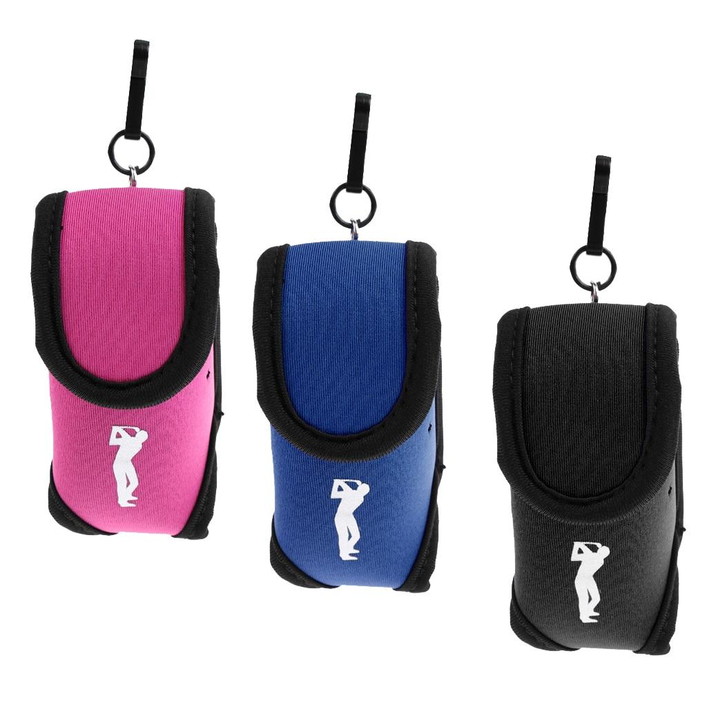 Elastic Neoprene Mini Golf Ball Holder Pouch Bag Small Waist Pack