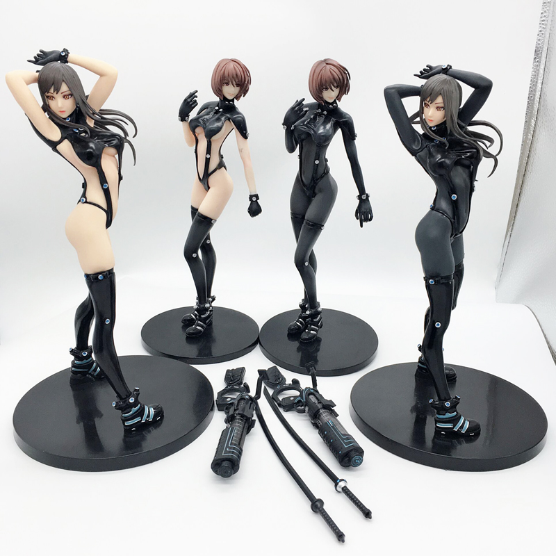 4 Type <font><b>Sexy</b></font> Union GANTZ O Anzu Yamasaki Shimohira Reika Sword Xshotgun Action Figure Model Toy Doll Gift image