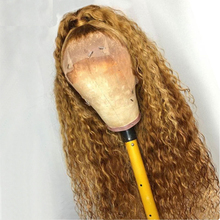 Human-Hair-Wigs Silk Base Curly Blonde Mongolian Lace-Front Natural Black Women Hairline