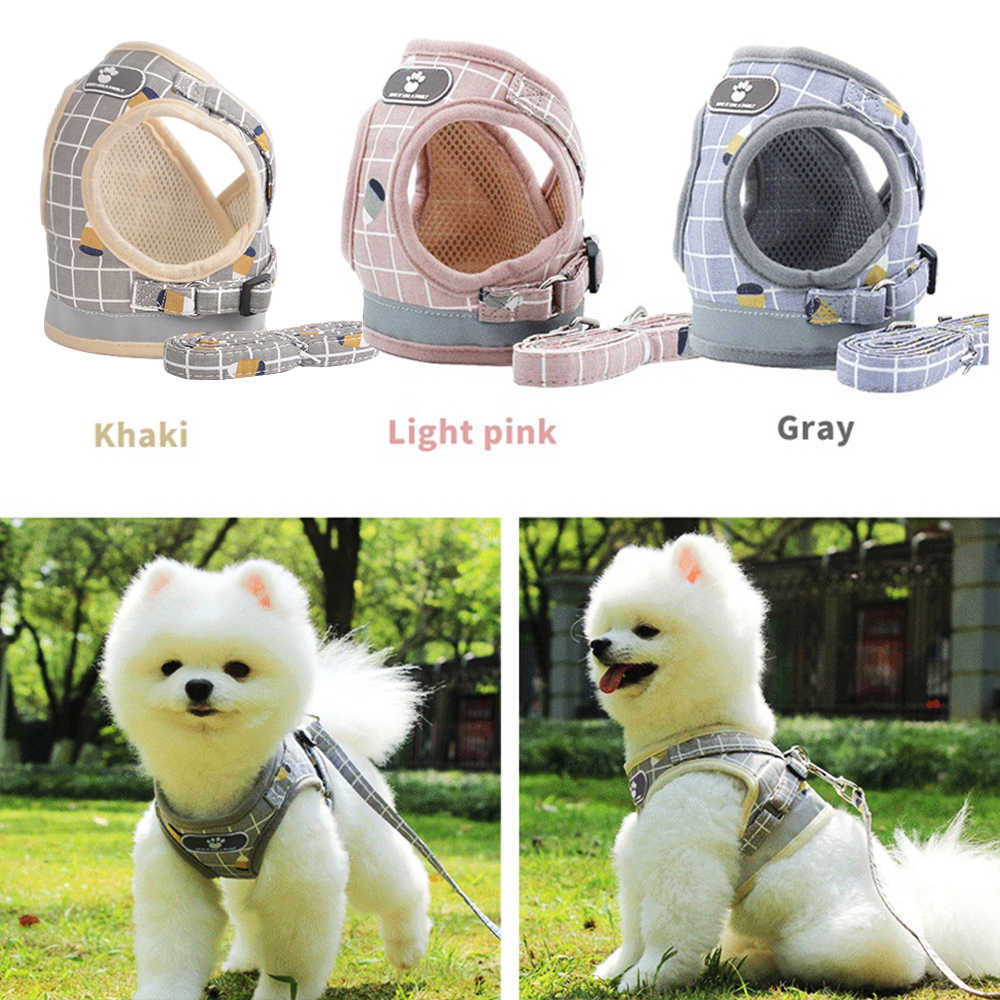 New Vest-style Traction Rope Pet Dog Harness Leash Breathable traction rope vest Cat Small Dog Chest Strap S M L