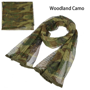 190*90cm Scarf Cotton Military Camouflage Tactical Mesh Scarf Sniper Face Scarf Veil Camping Hunting Multi Purpose Hiking Scarve 5